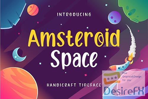 Amsteroid Space Display Font