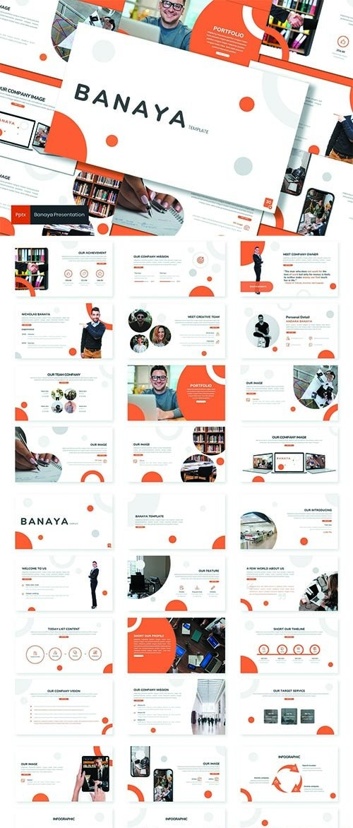 Banaya - Business  Powerpoint, Keynote and Google Slides Template