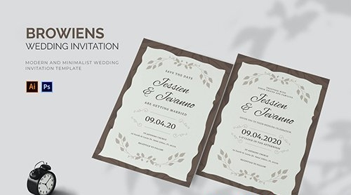 Browiens - Wedding Invitation