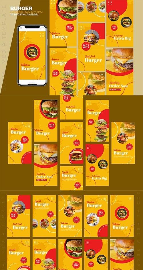 Burger - Food Instagram story Template