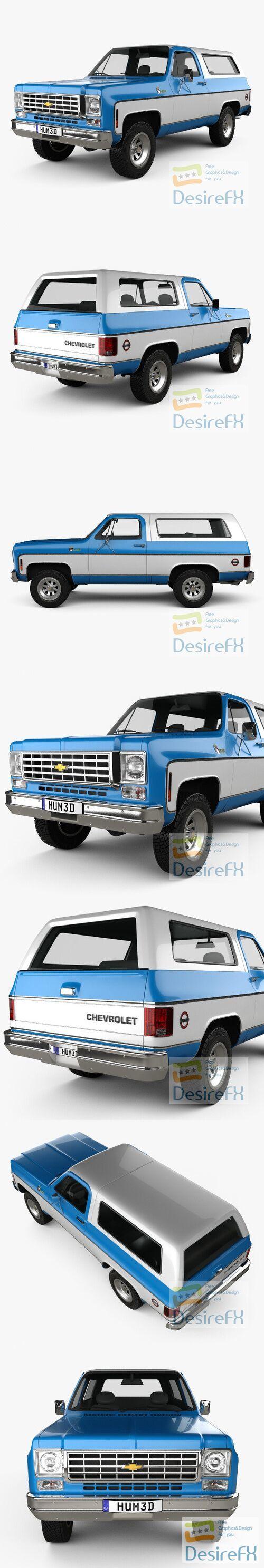 Chevrolet Blazer K5 1976 3D Model