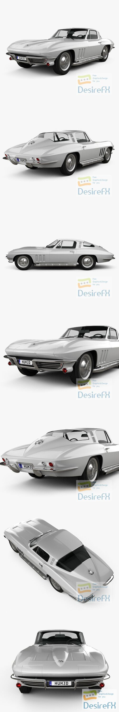 Chevrolet Corvette Sting Ray C2 1965 3D Model