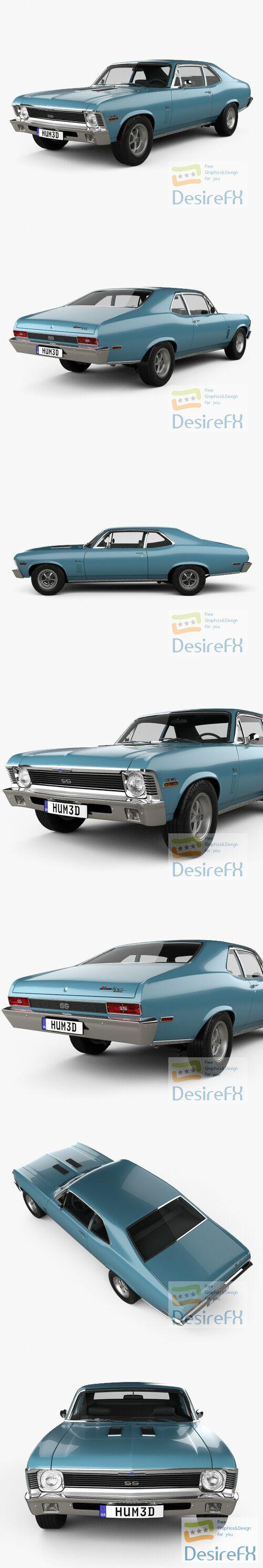 Chevrolet Nova SS 396 1970 3D Model