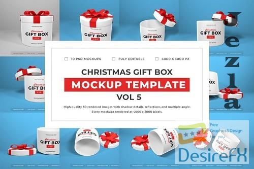 Christmas Gift Box Mockup Bundle Vol 5 - 1061680