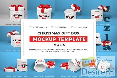 Christmas Gift Box Mockup Bundle Vol 5 - 1061680