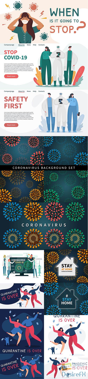 Coronavirus covid 19 background
