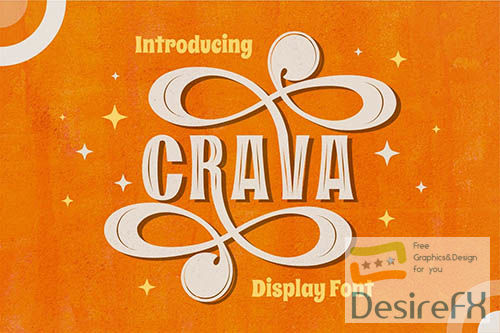 Crava - Vintage Display Font