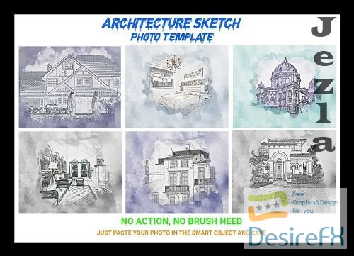 CreativeMarket - Architecture Sketch Photo Template 4545095