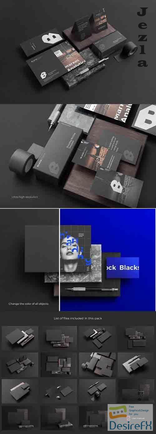 CreativeMarket - Blackstock Branding Mockup Kit 4234885