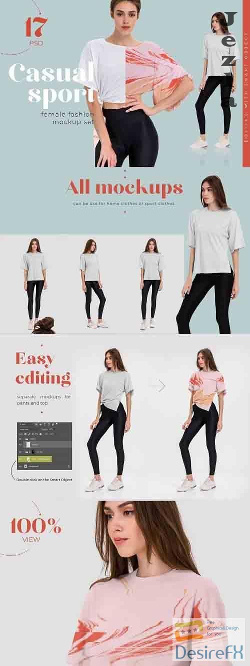 CreativeMarket - Casual Sport T-shirt Mockups 5446936
