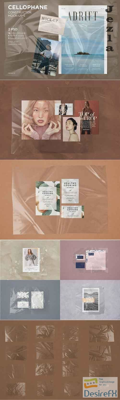 CreativeMarket - Plastic Wrinkle Constructor Mock-Up 3973569
