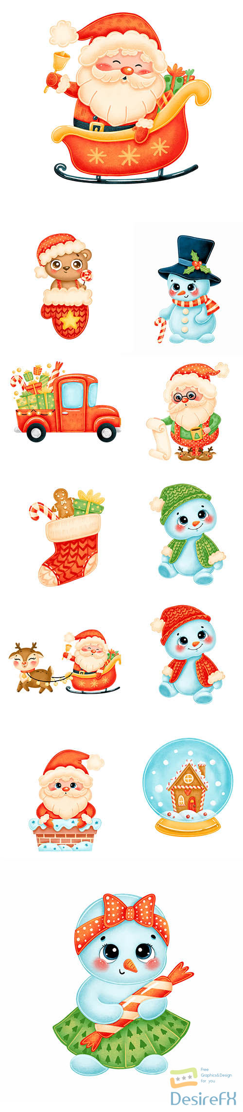 Cute cartoon christmas image