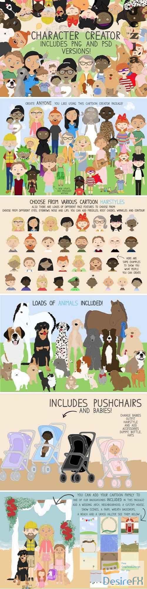 Family Creator, Family People, Cartoons