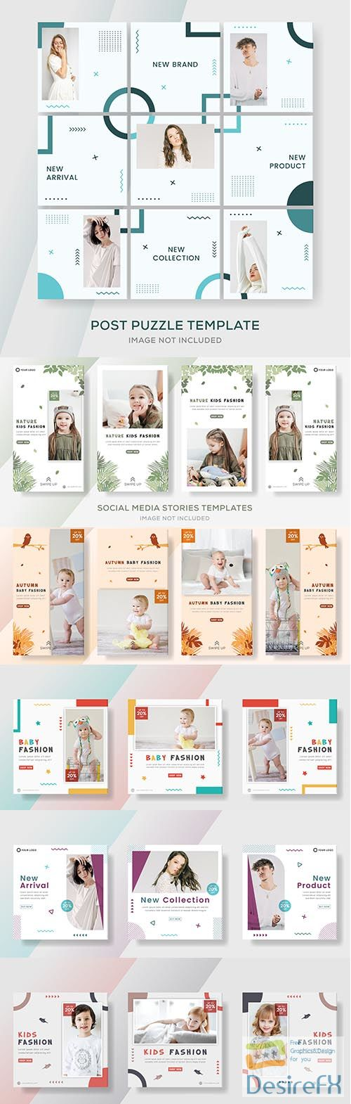 Fashion sale banner template post