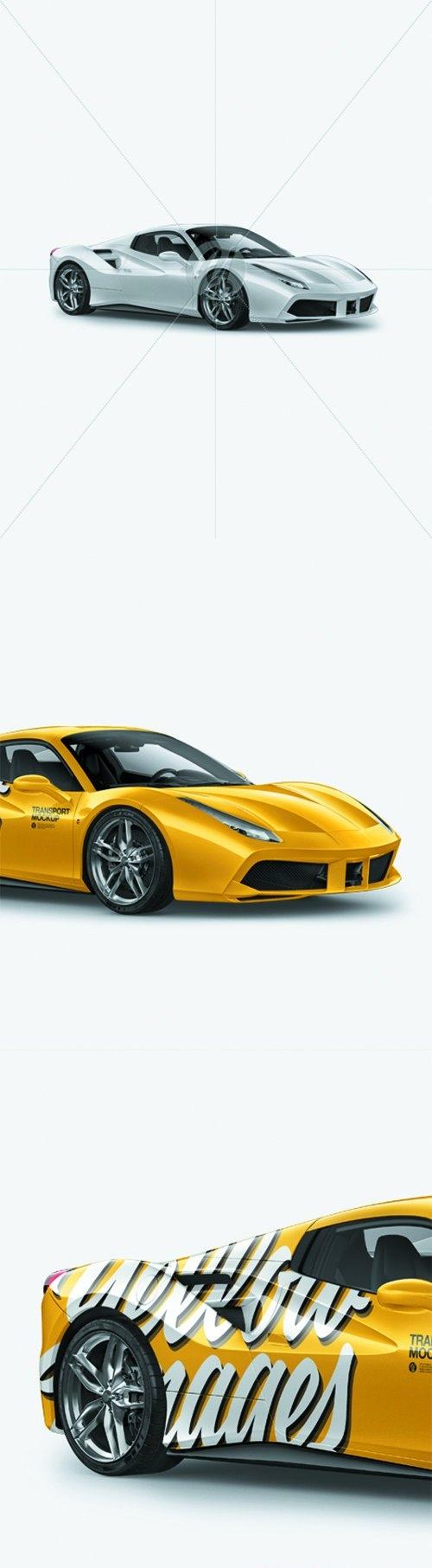 Ferrari 488 Mockup - Half Side View 25751