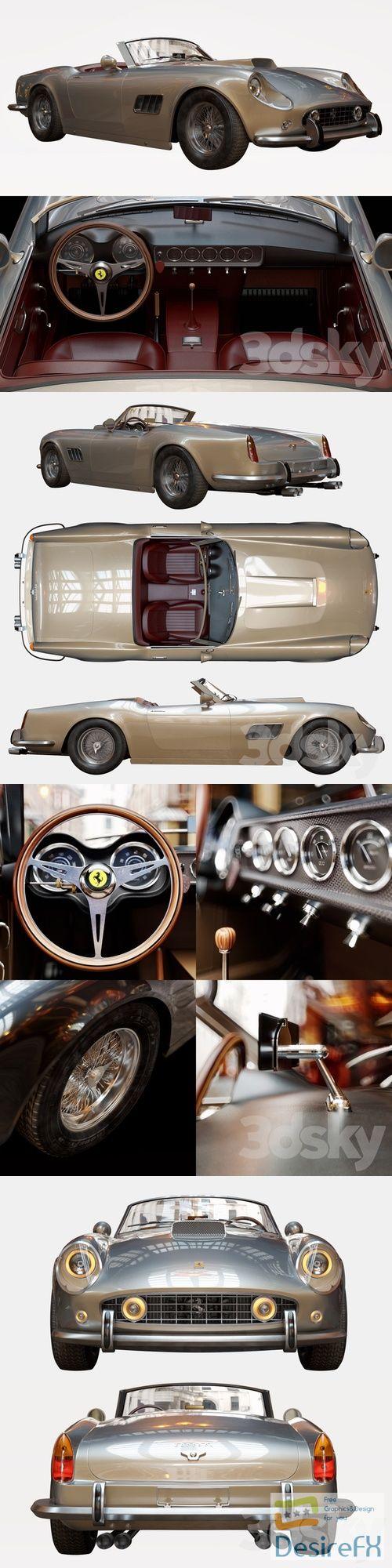 Ferrari 250 GT SWB California Spyder 3D Model