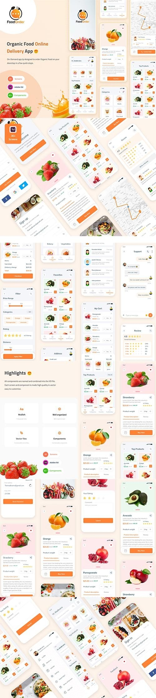 Food Order - Grocery Application UI kit
