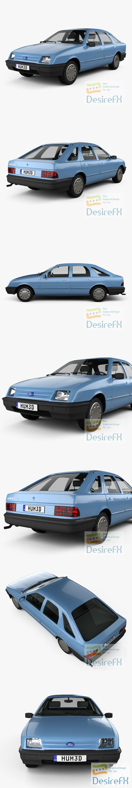 Ford Sierra hatchback 5-door 1984 3D Model