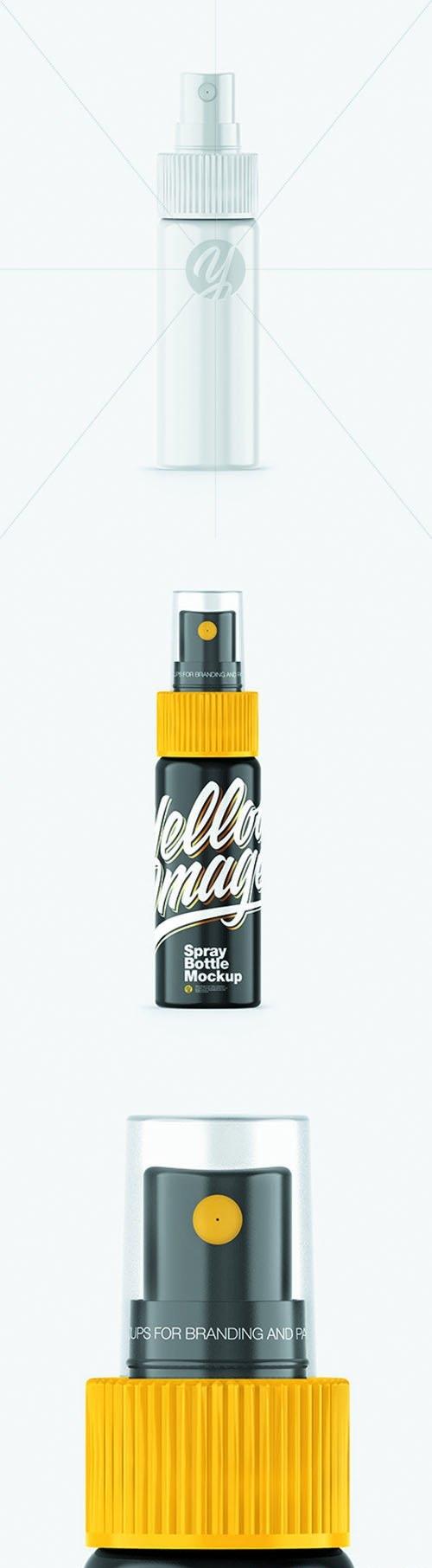 Glossy Spray Bottle Mockup 65917