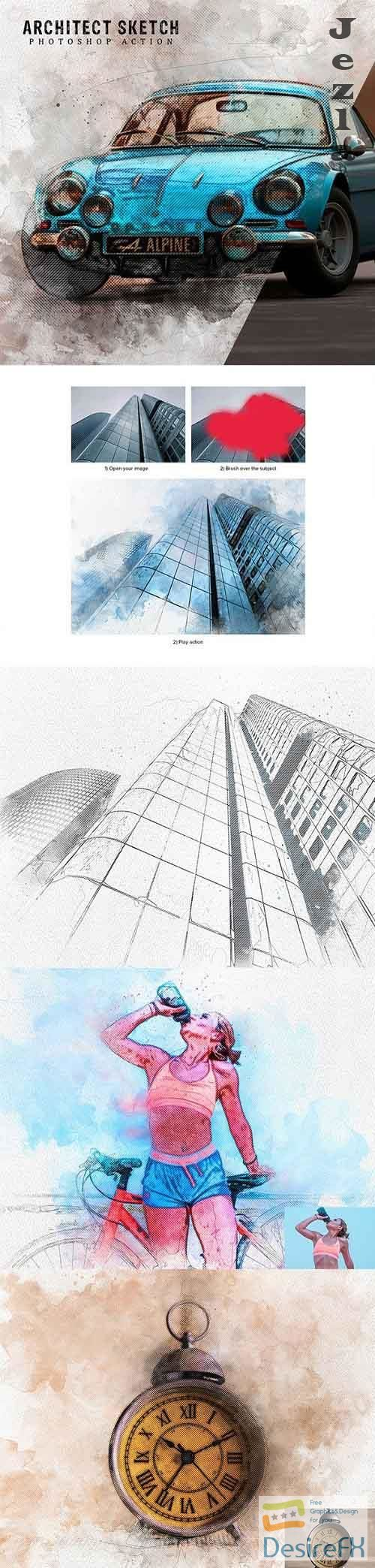 GraphicRiver - Architect Sketch Photoshop Action 28522875