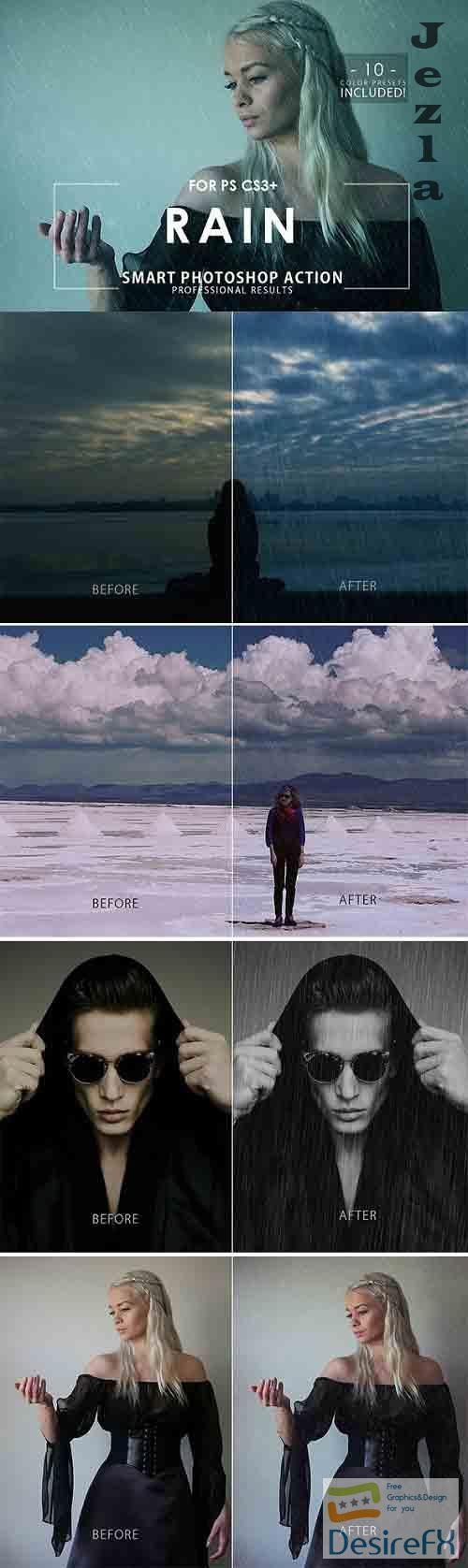 GraphicRiver - Rain Photoshop Action 28806032