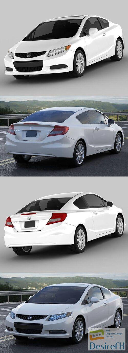 Honda Civic Coupe 3D Model