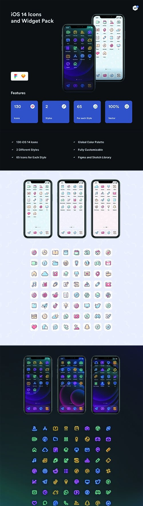 iOS 14 Icons and Widget Pack