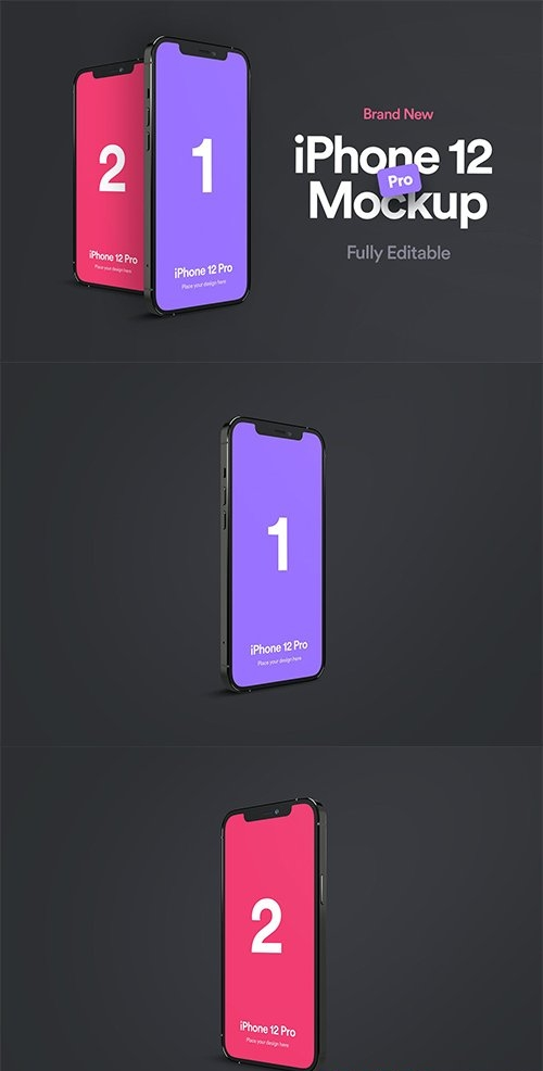 iPhone 12 Pro Mockup - Vol 01
