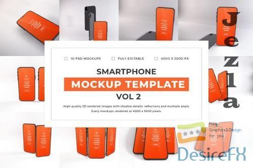 iPhone Smartphone Mockup Template Bundle Vol 2 - 1080001