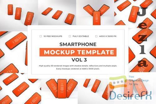 iPhone Smartphone Mockup Template Bundle Vol 3 - 1080050