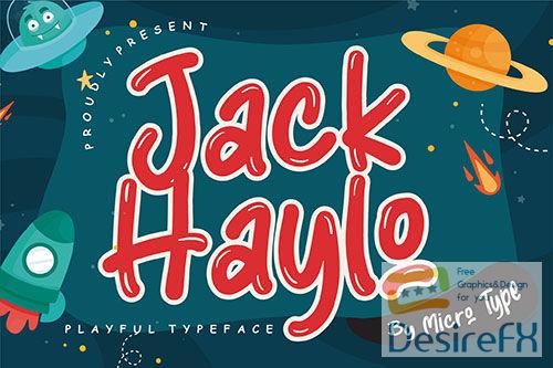 Jack Haylo Playful Typeface