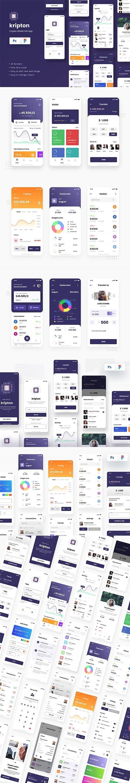 Kripton - Crypto Wallet iOS App Design Figma & PSD Template