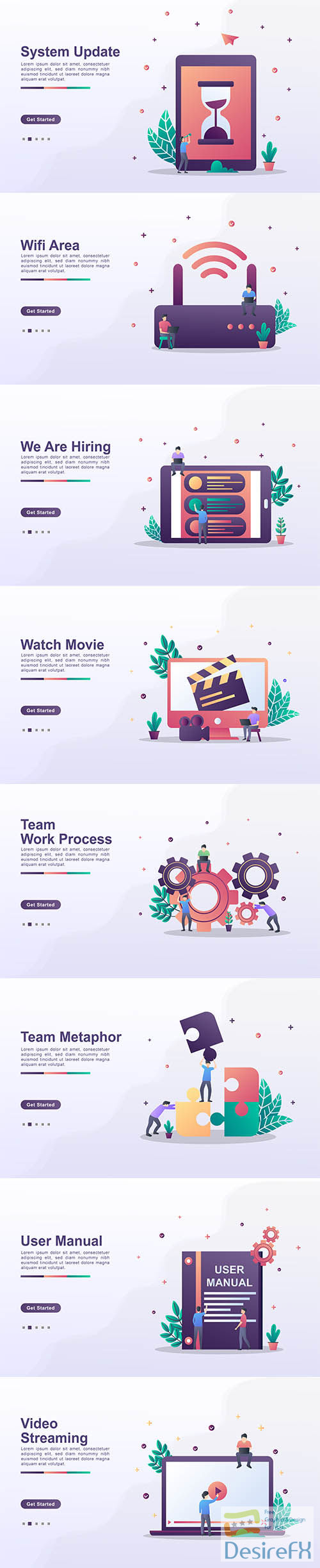 Landing Page Template Set