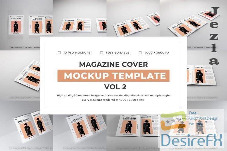 Magazine Cover Mockup Template Bundle Vol 2 - 1080582