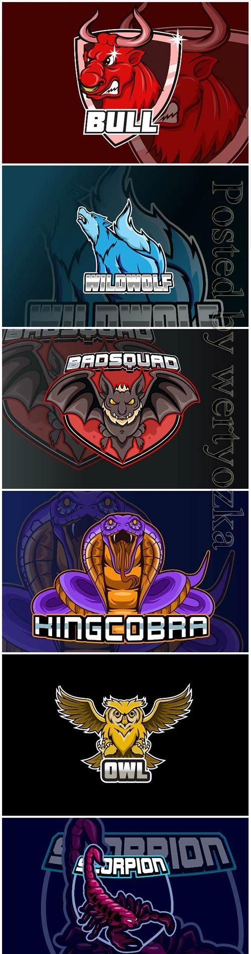 Mascot esport logo design premium vector vol 21