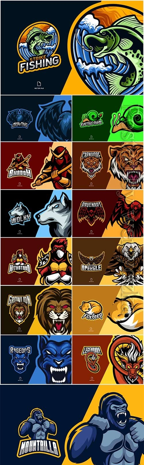 Mascot esport logo design premium vector vol 24