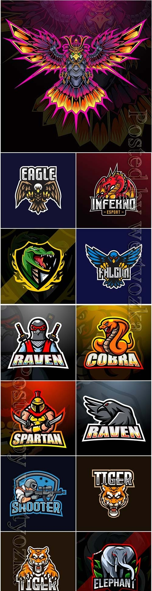 Mascot esport logo design premium vector vol 35