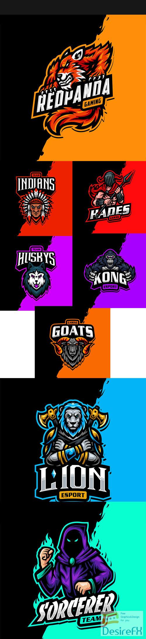 Mascot logo esport gaming