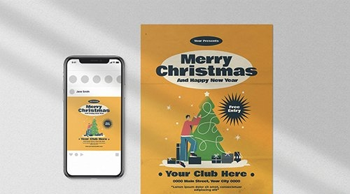 Merry Christmas Flyer Pack