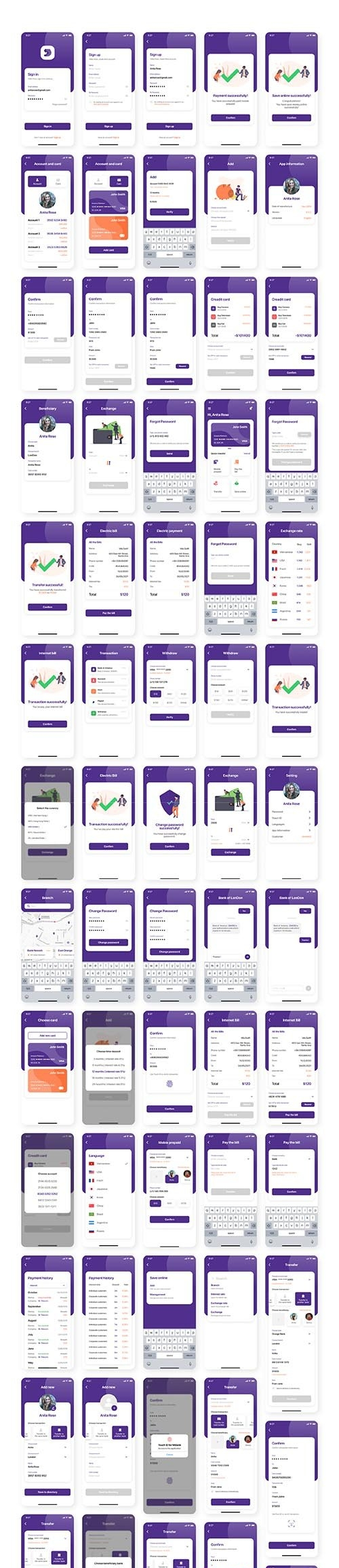 Miwal - Banking App UI Kit