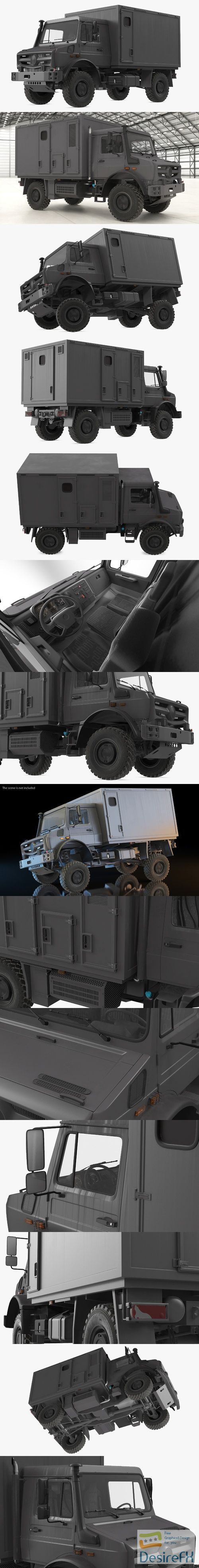 Off Road Vehicle Rigged 3D Model