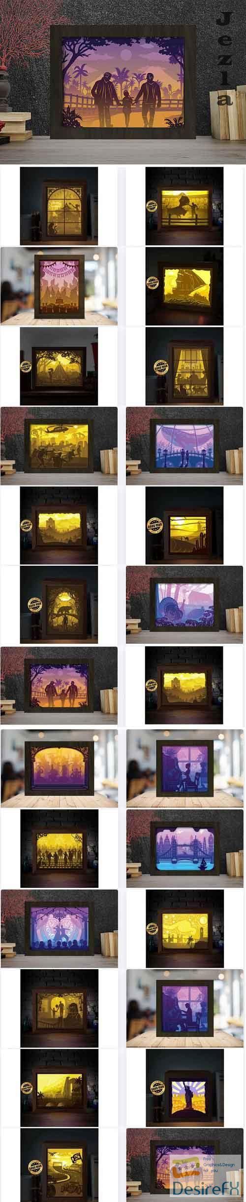 Paper Cut Light Box Bundle - 25 Premium Graphics