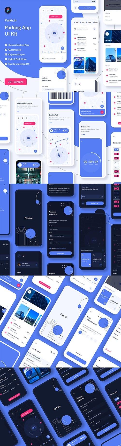 Parkirin : Parking App UI Kit