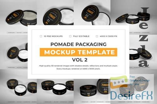Pomade Packaging Mockup Template Bundle Vol 2 - 1080611