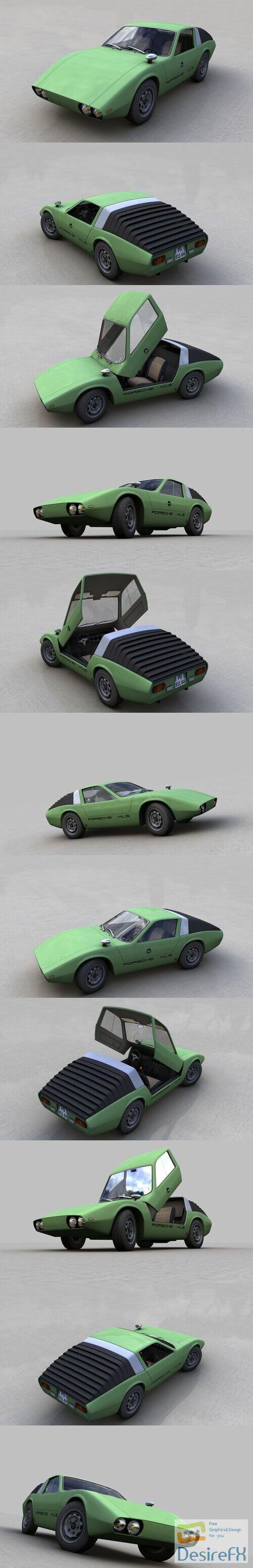 Porsche 911 HLS 1967 3D Model