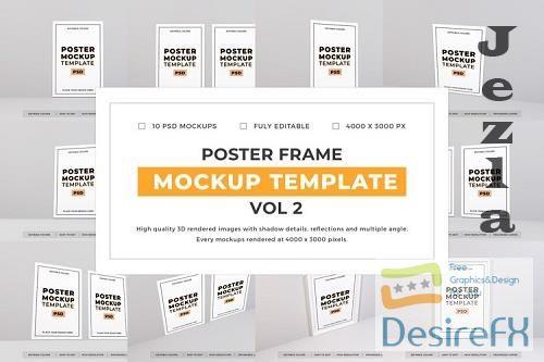 Poster Frame Mockup Template Bundle Vol 2 - 1080624