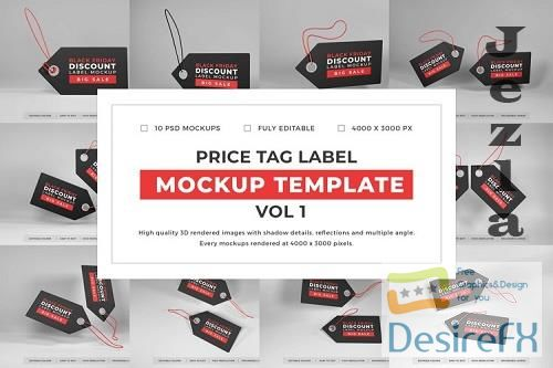 Price Tag Label Mockup Template Bundle Vol 1 - 1053987