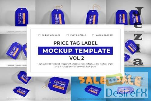 Price Tag Label Mockup Template Bundle Vol 2 -1080642