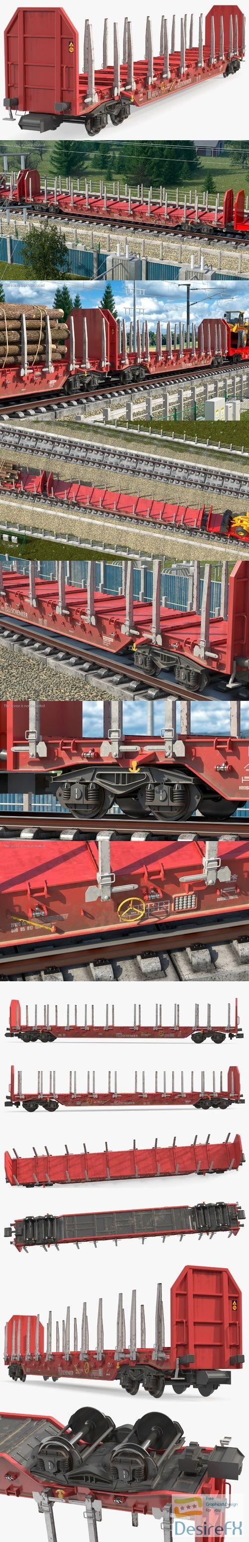 Rnoos 644 Stake Wagon Empty Dirty 3D Model