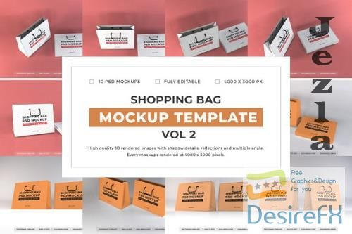 Shopping Bag Mockup Template Bundle Vol 2 - 1080772